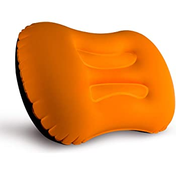 Comfortable Ergonomic Pillow for Neck Compact Inflatable Compressible Lumbar Support and a Good Night Sleep While Camp Lumbar Support and a Good Night Sleep While Camp Lvgowyd Ultralight Inflating Travel//Camping Pillow Orange