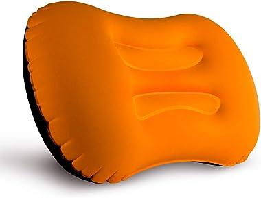 Camping Pillow, LERMX Inflating Travel Pillow, Compressible/Compact/Ergonomic Pillow for Neck & Lumbar Support and a Good Nig