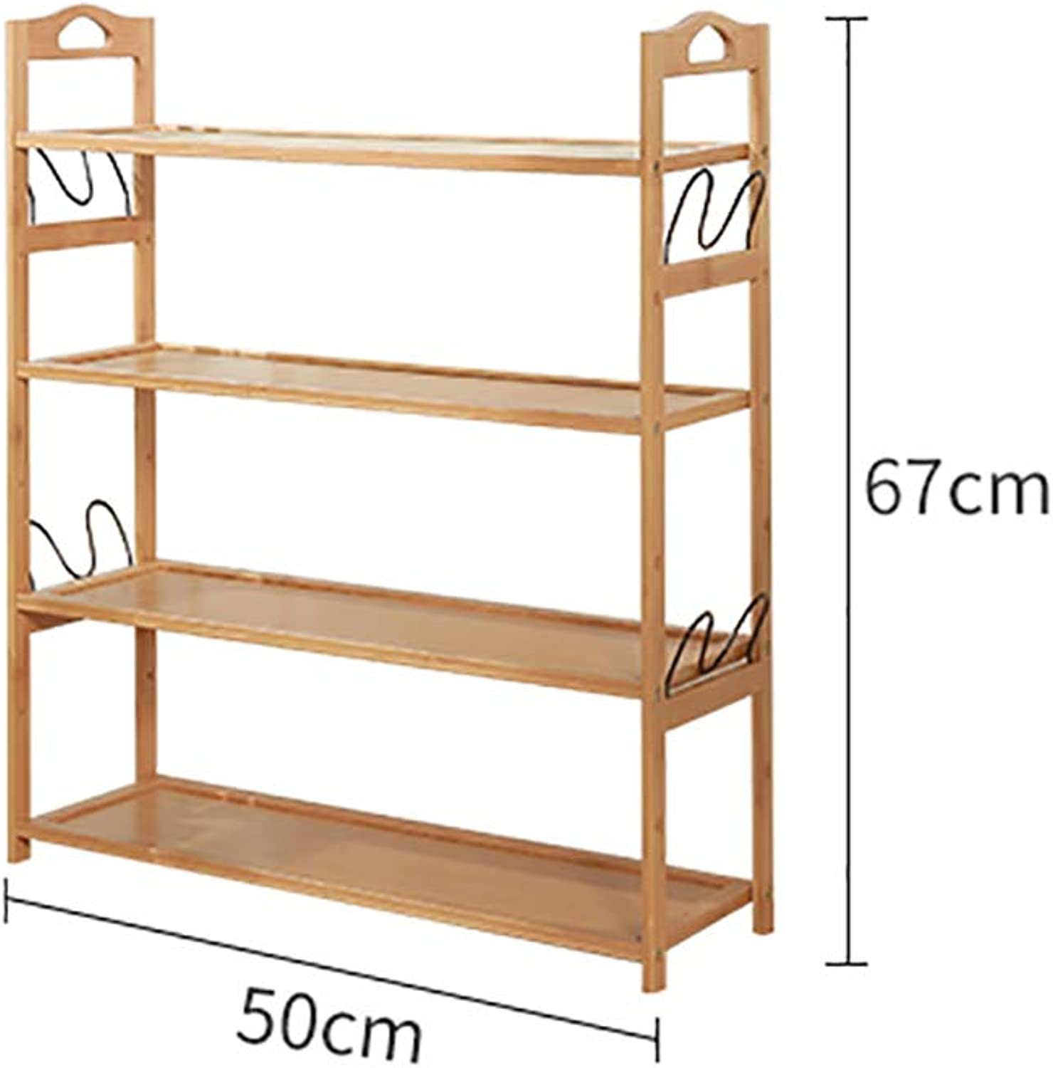 4-Layer shoes Rack Shelf hot Pot Rack Flower Stand Bookshelf Storage Shelf shoes Cabinet Multifunction Household Doorway Entrance Space Saving (Size   50  24  67cm)
