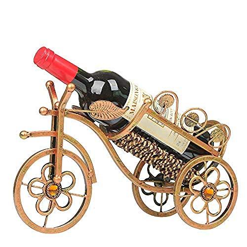 CAIJINJIN estante del vino vino europeo estante bandeja de hierro forjado línea gruesa triciclo retro joyería de la decoración del gabinete de escritorio living comedor cocina pantalla acumular las de