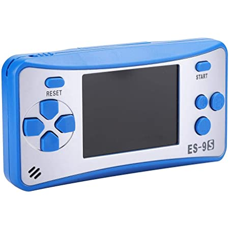 168ゲーム内蔵のレトロクラシックハンドヘルドゲームコンソール、2.5インチ、長いスタンバイ時間 ABSプラスチック素材、子供と大人の両方に適しています(青い)