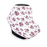 Hudson Baby Unisex Baby Multi-use Car Seat Canopy, Roses, One Size