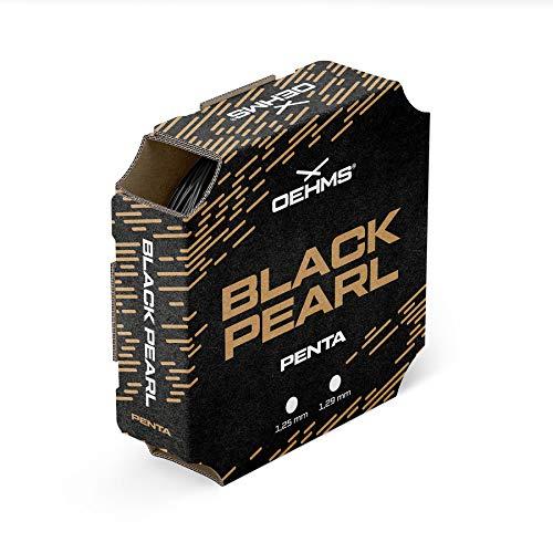 Oehms Black Pearl Penta | Profilierte Co-Polyester Tennis-Saite | 200 m Rolle | 1.29 mm
