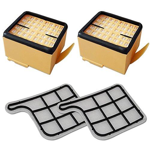 MohMus Filterset 2X HEPA Filter + 2X Motorschutzfilter geeignet Für Vorwerk Kobold VK 135, 136, VK135, VK136