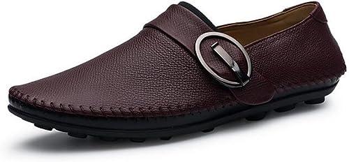 Les chaussures en cuir décontractées des hommes habillent des chaussures de conduite de confort le travail formel d'affaires ressort GLSHI