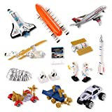 Mission to Mars Space Shuttle Playset for Kids with Rockets, Satellites, Rovers