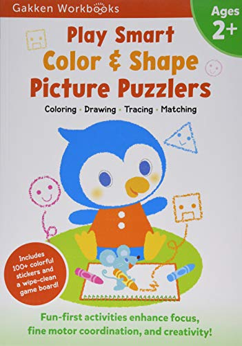 Play Smart Color & Shape Picture Puzzlers Age 2+: At-home Activity Workbook (11)