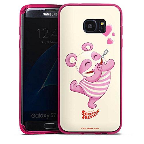 DeinDesign Silikon Hülle transparent pink kompatibel mit Samsung Galaxy S7 Edge Case Schutzhülle Sorgenfresser Betti Fanartikel Merchandise