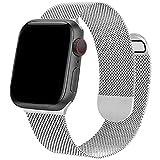Compatible con correas de reloj Apple de 42 mm y 44 mm ONELANKS con correa de acero inoxidable de doble cara de malla magnética para iWatch Series 6, 5, SE, 4, 3, 2, 1, para mujeres y hombres