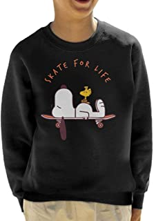 Skate For Life Snoopy and Woodstock Peanuts Kid's Sweatshirt