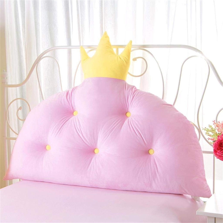 MWPO Coussin Princess Room Bed Coussin Oreiller Version coréenne du Sac Souple arrière (Couleur  Rose, Taille  200  90cm)