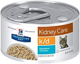 Hill's Pet Nutrition K/d Kidney Care Vegetable, Tuna & Rice Stew Canned Cat..