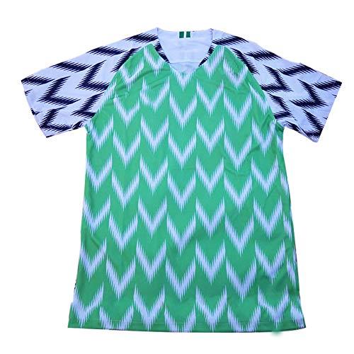SHUER Nigeria Jersey 2019 Copa América Nigeria Inicio Fútbol Jersey 19-20 Camiseta De Entrenamiento De Camuflaje De Camuflaje En Forma De V Hombres, Ideal para Ocio Y DEPO XL