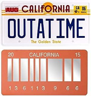 ASVP Shop Delorean Outatime Plate + 2015 Future Memorabilia Mechanise Plate Metal Vanity Prop License Plate Combo
