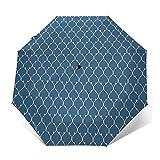 Paraguas Plegable Automático Impermeable Líneas Curvas Que Forman elíptica, Paraguas De Viaje Compacto A Prueba De Viento, Folding Umbrella, Dosel Reforzado, Mango Ergonómico