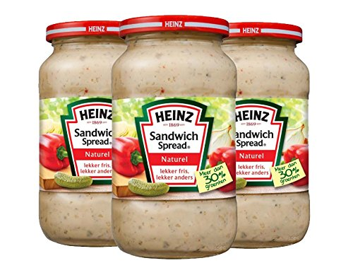 Heinz - Sandwichspread Naturel - 3 x 450 Gramm