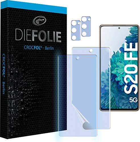 Crocfol Schutzfolie vom Testsieger [2 St.] kompatibel mit Samsung Galaxy S20 FE 5G - selbstheilende Premium 5D Langzeit-Panzerfolie - inkl. Kamera schutzfolien (Casefit)