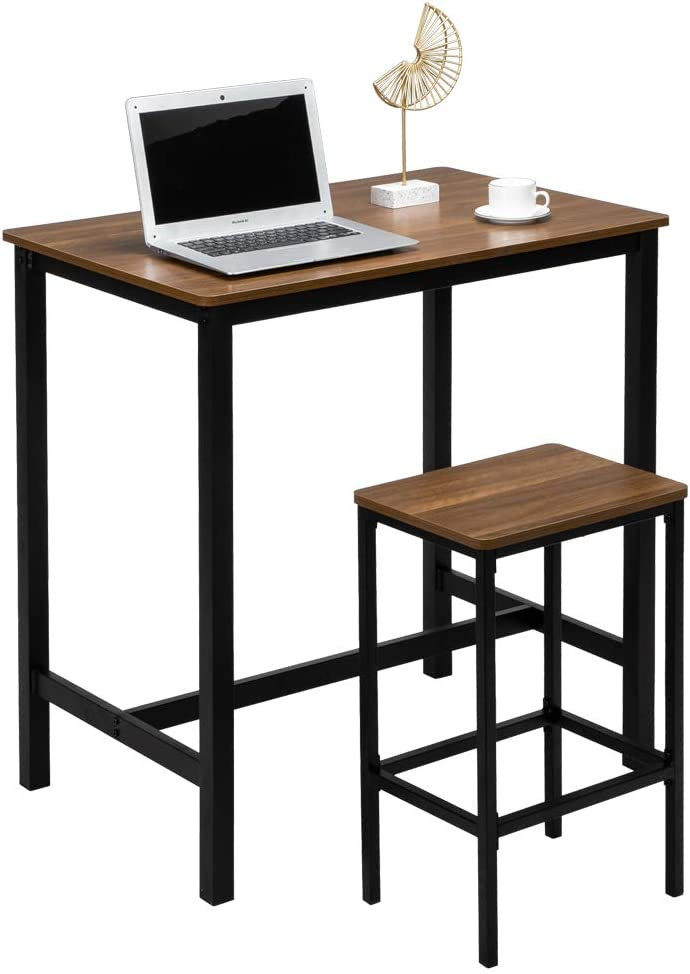 Vingli 3 Pcs Pub Table Set Counter Height Dining Table Set For 2 Kitchen Bar Table With 2 Bar Stools Breakfast Pub Table And Chairs Set Home Kitchen Kitchen Dining Room Furniture