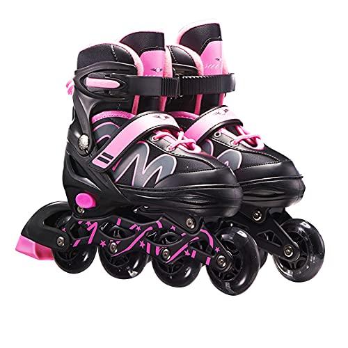Ysimee Verstellbare Inliner Skates für Kinder Anfänger, 2 in 1 inliner und Schlittschuhe mit Bremsen, Fitness Inline Skates, Unisex