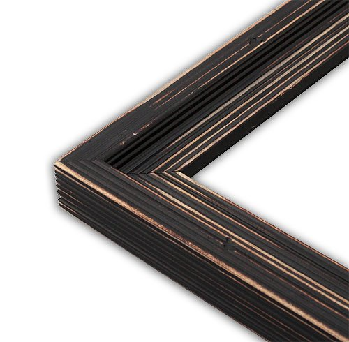 The Rusty Roof Distressed Cimarron Black Picture Frame-Solid Wood, 12x16