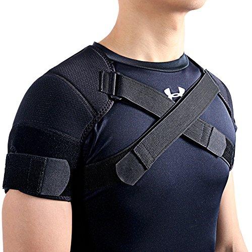 Kuangmi(カウアミ)7k-foam スポーツ 肩サポーター 両肩用 保温 肩こり解消・四十肩・五十肩・脱臼 調節できる (XX-Large)