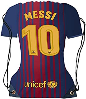 Lionel Messi Jersey Drawstring Backpack ✓ Premium Unique School Bag ✓ Perfect Gift for Messi Soccer Fans