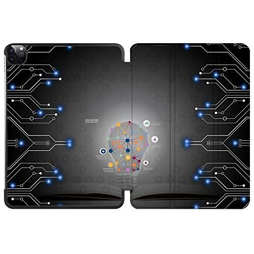 SDH Funda inteligente para iPad Pro de 12,9 pulgadas 2020 4ª generación,función atril y apagado automático, compatible con Apple iPad 12,9 pulgadas 2020 A2229 / A2233, bombilla 2