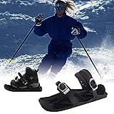SOHOH Mini Patines De Esquí para Nieve Trineo De Esquí Ajustable Al Aire Libre Las Cuchillas De Nieve De Skiboard Cortas Cuchillas De Nieve De Borde Portátil, para Usar En La Nieve