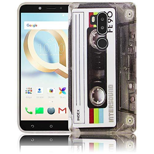thematys Passend für Alcatel A7XL A7 XL 7071DX Kassette RetroHandy-Hülle Silikon - staubdicht stoßfest und leicht - Smartphone-Case