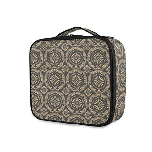 SUGARHE Damast inspirierte Orient blühende Details,Kosmetiktasche Make Up Bag Schminktasche,...