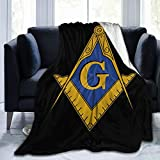 YUNTONG Freemason Mason Masonic Symbol Throw Blanket Ultra-Soft Micro Fleece Blanket Movies Blanket for Bed Couch Living Room