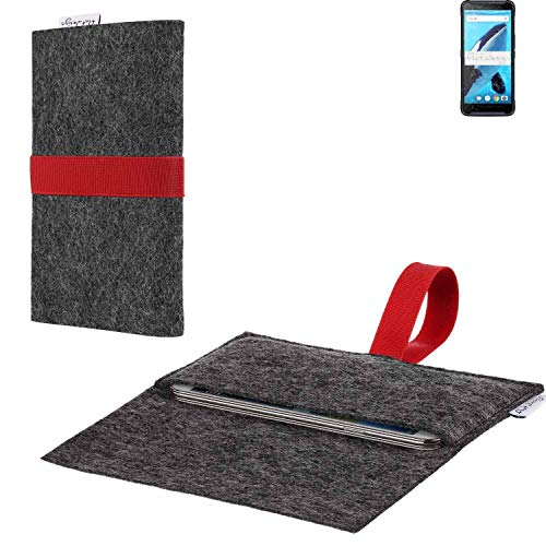 flat.design vegane Handy Hülle Aveiro für Energizer Hardcase H570S passexakte Filz Tasche Hülle Sleeve Made in Germany