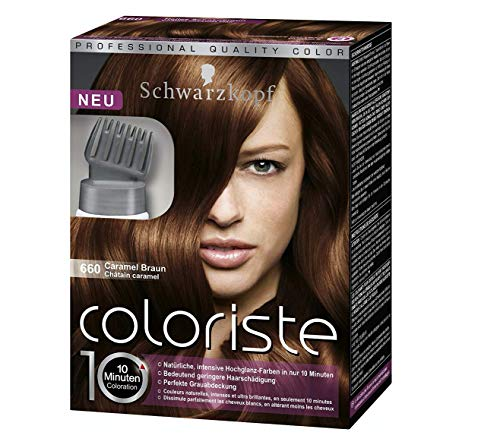 Schwarzkopf Coloriste Hochglanz-Haarfarbe Caramel Braun