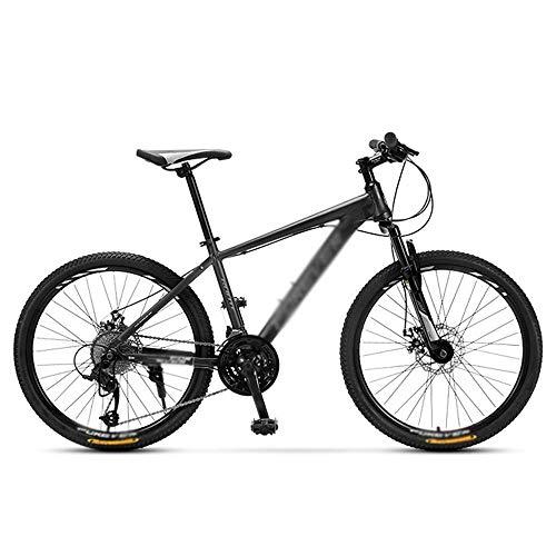 Bicicleta de montaña 26 pulgadas para adultos aleación de aluminio estudiante juvenil velocidad variable off-road suspensión bicicleta 27 velocidad variable-negro_26 pulgadas 27 velocidades