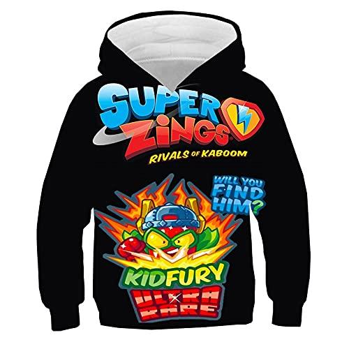 Superzings sudadera Super Zings 3D impreso niños sudaderas con capucha de dibujos animados Anime Pullover niño niña Tops XL