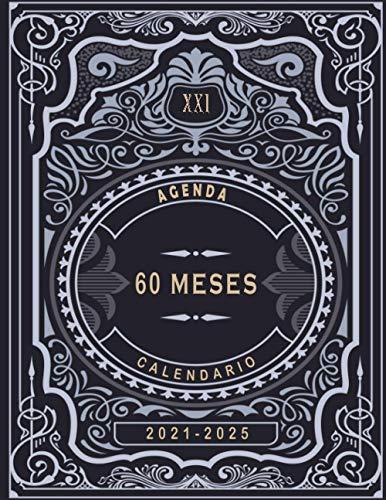 Agenda 2021-2025, Planificador diario de cinco años, libreta, anotar, agenda y diario personal, calendario de 60 meses, cita de 5 años