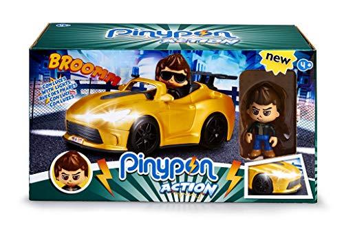 Pinypon Action - Súper Coche con la Figura de un espía y Accesorios, para niños y niñas de 4 a 8 años (Famosa 700015150)