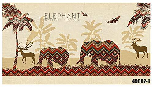 Gtfzjb Hotel Yoga Pavillon Thailändische Küche Restaurant Wandbild Elefant Tapete 3D Südostasiatischer Stil @ 288 * 110cm