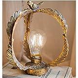 noyydh Luz Nocturna de pájaro, iluminación de Jardines al Aire Libre, lámpara de Mesa pequeña, Decoraciones Retro de Hierro Forjado, Decoraciones de Mesa, 22x19cm