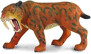 ANIA T16053 Saber Tooth Tiger avec homme des cavernes articulé Mini Figure