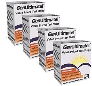 نوارهای قاعده گلوکز نسلی برای استفاده با One Touch Ultra، Ultra 2 و Ultra Mini Meter، 200 ct Strips (2 boxes of 100)