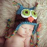 Colores Invierno Caliente Tapa Búho Sombrero Gorra Para Bebé Niño Chica