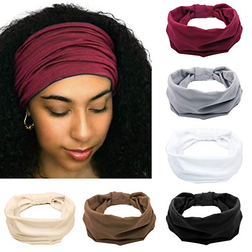 Tobeffect Headbands for Women African Boho Wide Knotted Head Wraps Turbans