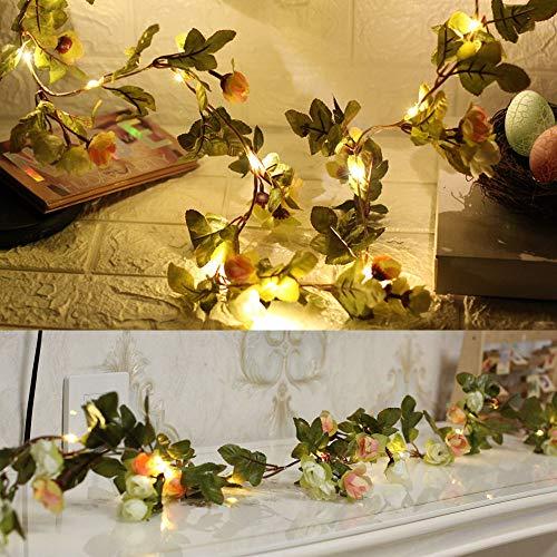 Lichtsnoer voor binnen, fee, vlinder, led-lichtketting, warmwit, werkt op batterijen, voor woonkamer, slaapkamer, actie, Kerstmis, tuin, party