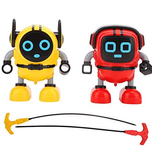 DIY Mini Robot Giroscopio, Novedad Spinning Top Varios modos Tire hacia atrás Inercia Inteligencia Juguete para niños pequeños