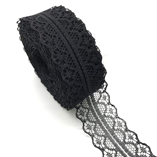 10yards 30mm kant lint trim stof diy geborduurd net koord voor het naaien van decoratie kant stof, zwart