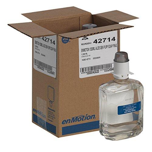 enMotion Gen2 Moisturizing Foam Soap Dispenser Refill by GP PRO (Georgia-Pacific), Dye and Fragrance Free, 42714, 1200 mL Per Bottle, 2 Bottles Per Case