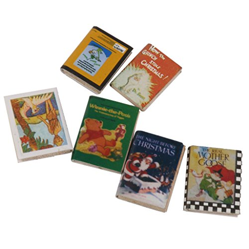 F Fityle 1/12 Dollhouse Miniatura Multicolor Mini Libros Modelo Accesorios para Muñecas