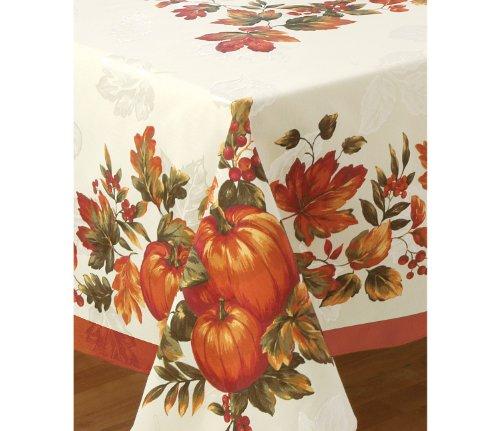 Bardwil Table Linens, Harvest Medley 60' X 102' Tablecloth Sienna