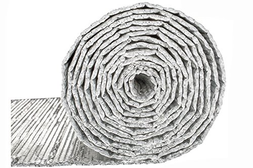 Double Bubble Reflective Foil Insulation: (4 X 50 Ft Roll) Industrial Strength Radiant Barrier, Commercial Grade Thermal Insulation for Weatherproofing Garages, Attics, Sheds, RV Windows, More